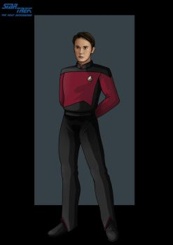ensign wesley crusher by nightwing1975
