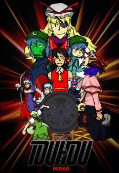 Mighty Morphin Touhouvengers by DeidaraGS
