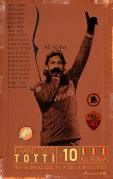 Totti 'Vintage  Poster' by GoblinFish