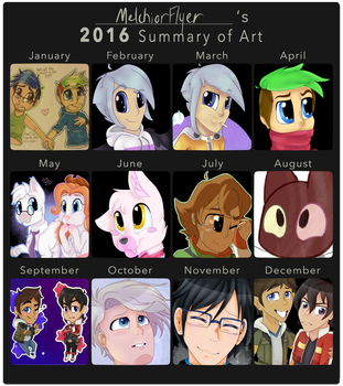 2016 Summary of Art by MelchiorFlyer