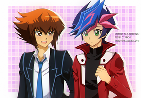 Yusaku y Judai by YugiNep