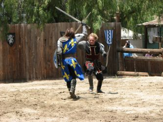 More Knight Joust Stock 029 by tursiart
