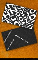 Black MOdern Business Card by Freshbusinesscards