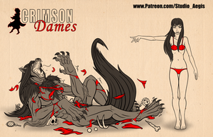 Crimson Dames - Mariette - Size Comparison by Paladin-Ciel