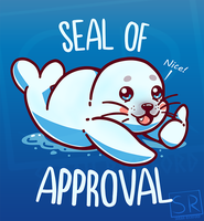 Cute Seal of Approval - Animal pun design by SarahRichford