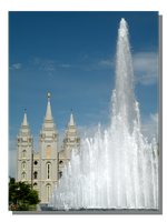Fountain at Temple Square by WillFactorMedia