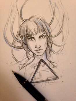 Ghost in the shell quick sketch  by LeanneEast