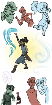 Legend of Korra art dump by hirokiro