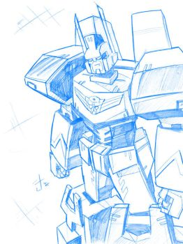 Animated Ultra Magnus sketch by dcjosh