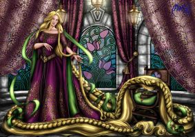 COMMISSION Rapunzel by Yagellonica