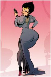 Madam Pegeen - Cartoon PinUp Commission by HugoTendaz