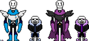 Monofell and Fellmono Sans and Papyrus by flambeworm370