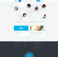 Skype website redesign by rEspaWn16