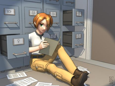 Ash in the Filing Room by Silver-Rin