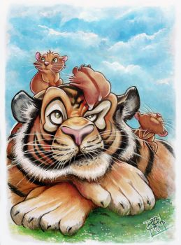 Tigre et Hamsters by clefchan