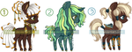 [CLOSED] Pony Adoptable Batch 08 by Tinuleaf-Adopts