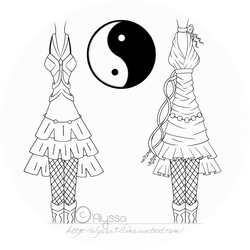 Yin-Yang Dresses by Alyssa921