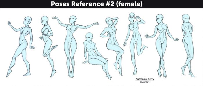 Poses Reference #2 (female) by Anastasia-berry