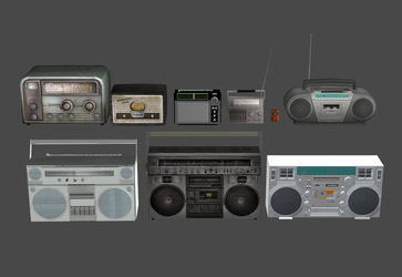 Portable Radios and Boom Boxes Pack (OBJ) by DigitalExplorations