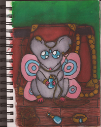 Watercolour Notebook #2: Fairy Mouse by Greenpolarbear47