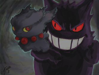 Gengar And Misdreavus by Marto