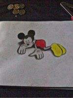 2013 drawing - Mickey and my coins XD by nielopena