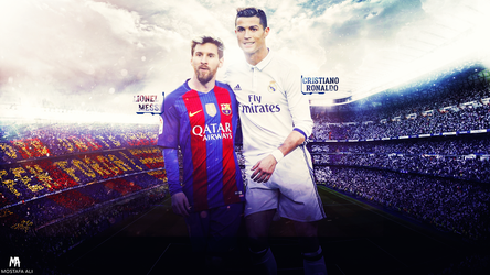 Messi-Ronaldo (The Legends) Wallpaper by mostafarock