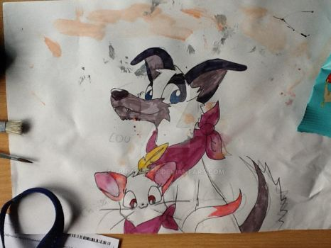 Lou and Chiisaii by JB-Pawstep