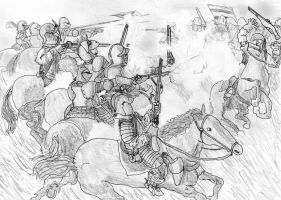 Bucquoy strikes back, Battle of Slabat, June 1619 by FritzVicari