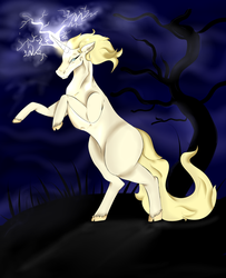 yo what about a unicorn that shoots LIGHTNING by Cockatooage