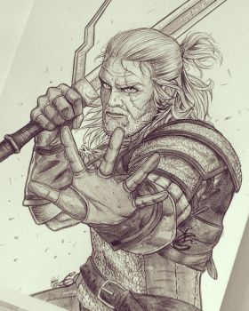 Geralt of Rivia by RafaConte