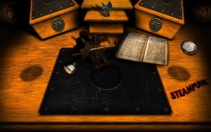 Steampunk Desk Dimensions by inception8