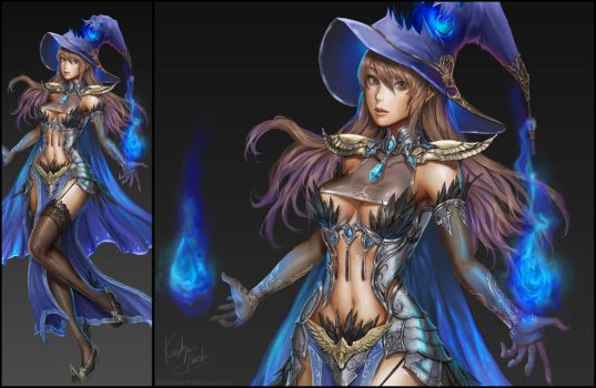 Dark Mage by KenshjnPark