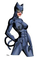 Catwoman Old Costume 1 Color by ESO2001