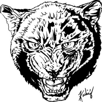 Panther Face by KashieChan