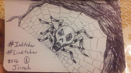 Skulltula - Day 1 Linktober 2016 by Dark-and-One-Other