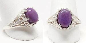 Purple Jade Ring by par-me