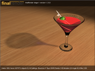 martini glass with caustics by ghost-403