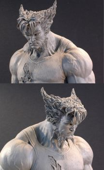 Wolverine head by MarkNewman