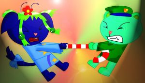 Fighting over a Candy-Cane by ami2414