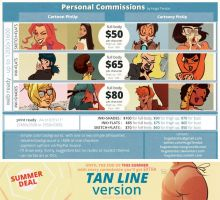Personal Commissions Guide + Summer Deal by HugoTendaz