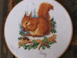 Squirrel Cross Stitch by Santian69