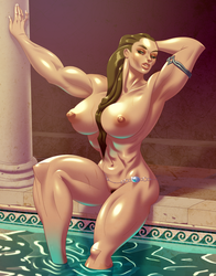 Roxxi at the Baths Commission by comixmill