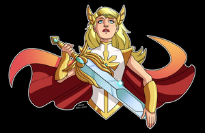 She-ra by dwaynebiddixart