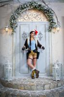 Christmas Lara Croft cosplay - welcome :) by TanyaCroft