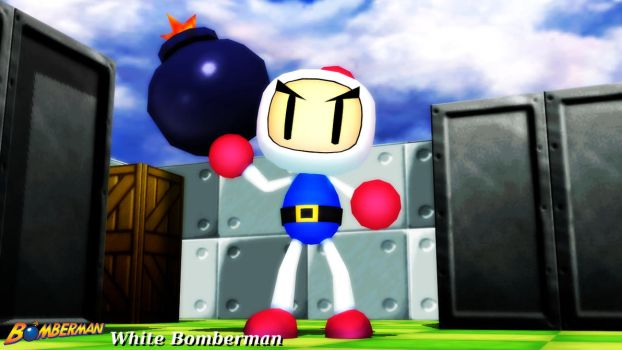 (MMD Model) White Bomberman Download by SAB64