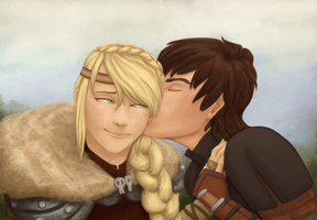 Hiccup And Astrid by Crazly