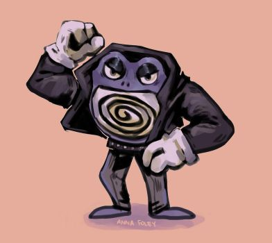 greaser poliwrath by babezord