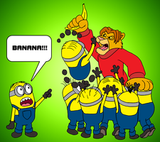Johnny vs. The Minions by RetroUniverseArt