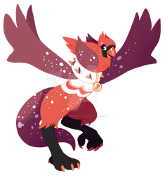 Griffia - Red Cardinal DTR by CandyChameleon